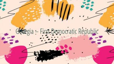 Georgia – First Democratic Republic