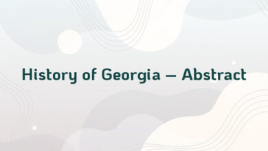 History of Georgia – Abstract