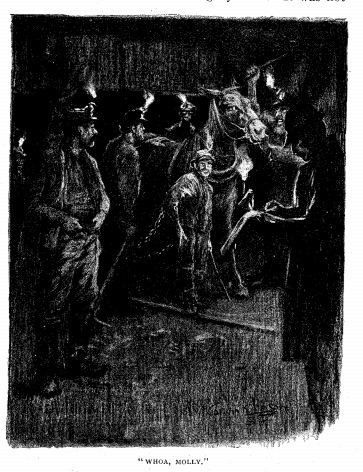 illustration for In The Depths of a Coal Mine by Stephen Crane