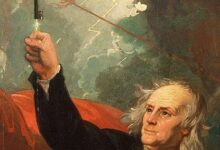 Benjamin West, Franklin's invention of the lightning rod, 1816