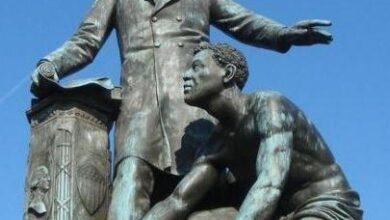 Emancipation Memorial in Lincoln Park, 1876