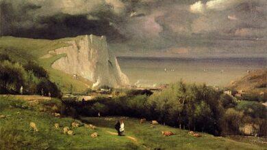George Inness, Etretat, Normandy, France, 1875