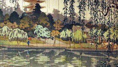 Koitsu Tsuchiya, Rain at Kofukuji Temple, 1937