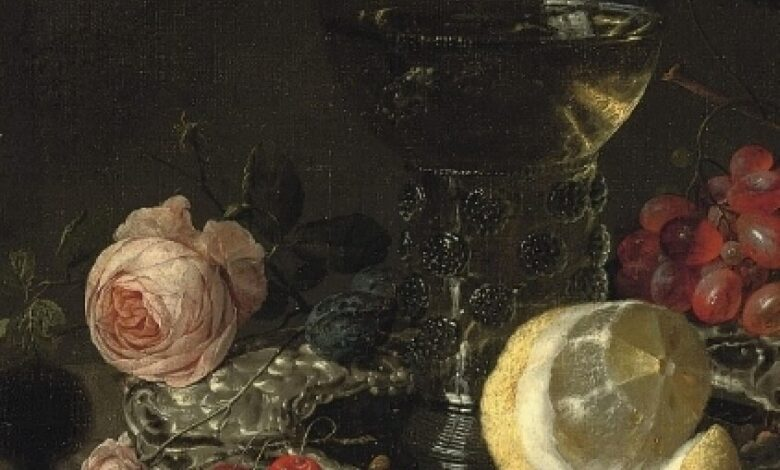 Simon Luttechuys and Cornelius de Heem, A Roemer with white wine, 17th century