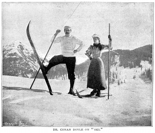 Sir Arthur Conan Doyle in Davos, 1894