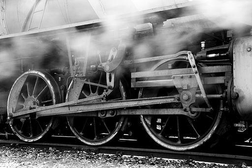 Steam locomotive running gear