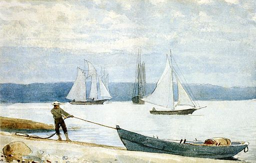 Winslow Homer, Pulling the Dory, 1888