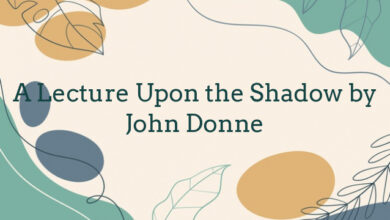 A Lecture Upon the Shadow by John Donne