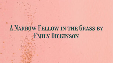 A Narrow Fellow in the Grass by Emily Dickinson