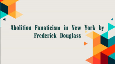 Abolition Fanaticism in New York by Frederick Douglass
