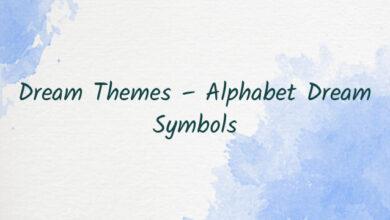 Dream Themes – Alphabet Dream Symbols