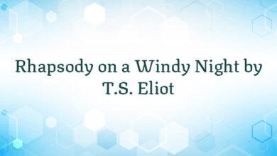 Rhapsody on a Windy Night by T.S. Eliot