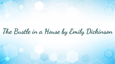 The Bustle in a House by Emily Dickinson