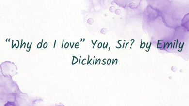"""""""Why do I love"""" You, Sir? by Emily Dickinson"""